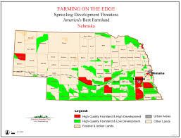 Nebraska On A Map Farming On The Edge State Maps American Farmland Trust