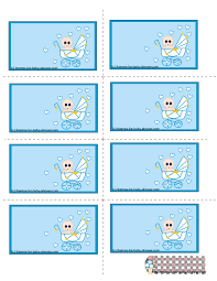 free printable blue baby shower labels