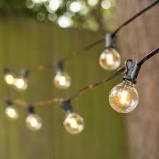 led globe string lights g40 bulb 50 ft black c7 strand warm white