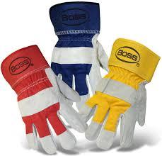 Split Cowhide Boss Heavy Duty Split Cowhide Palm Safety Cuff Boss Gloves