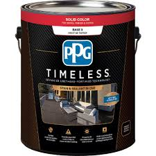 ppg timeless 1 gal solid color exterior wood stain tint base 3