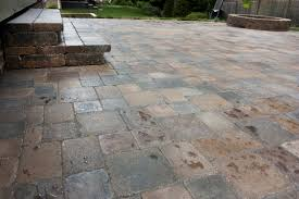 Outdoor Paver Patio Ideas by Hessit Bavarian Tumbled Paver Patio Fire Pit Steps Vive