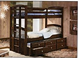 Bunk Bed With Trundle And Drawers Captains Bunk Bed With Trundle And Storage