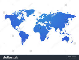 Vector World Map Vector World Map Global Earth Icon Stock Vector 1012719256