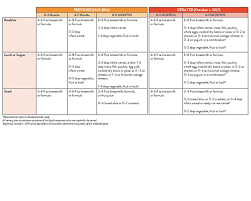 cacfp menu template infant meal pattern