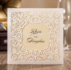 Design Wedding Invitation Cards Customize Off White Hollow Damask India Wedding Invitation Card