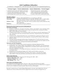desktop support technician resume cover letter template network