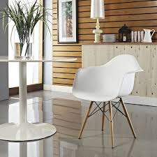 amazon com modway wood pyramid armchair in white chairs