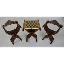 chess table and chairs set savonarola chairs slatted folding table with chess board set of