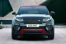 land rover convertible blue range rover revamps the evoque line up now wet grass capable by