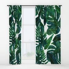 tropical window curtains society6