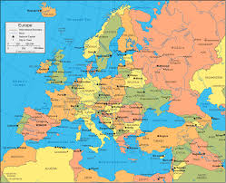 Europe Capitals Map by Map Of Europe Capitals