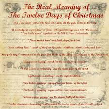 what does the 12 days of christmas mean christmas gift ideas