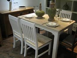 White Distressed Dining Room Table Dining Tables Retro Style Distressed Oak Wood Dining Table With