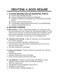 Resume For Photography Job by How To Have A Good Resume Jobs Billybullock Us