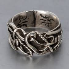 silver wire rings images Authentic zuni sterling silver wire ring by robert mac eustace jpg