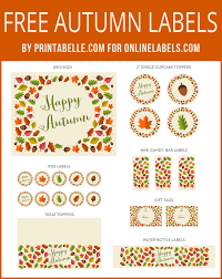 thanksgiving labels autumn leaf free printables