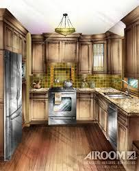 kitchen art design drawn kitchen art rendering pencil and in color drawn kitchen
