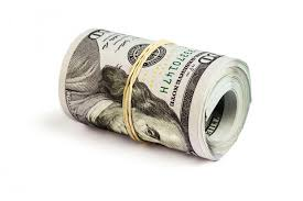 new year dollar bill roll of hundred dollar bills isolated stock photo image of