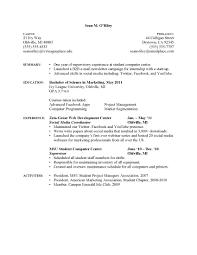 resume sle for a college graduate college graduate marketing resume sle 28 images mba