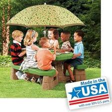 amazon com little tikes easy store picnic table with umbrella