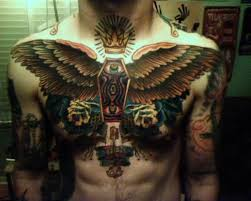 back cover up with outstanding big wings angry