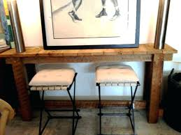 rustic high top table rustic high top table counter height console table console tables