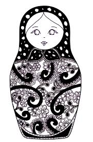 free coloring page coloring russian dolls 10 coloring russian