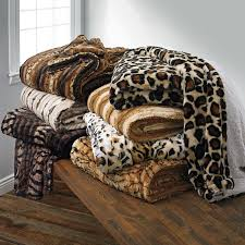 Animal Print Furniture by Faux Fur Animal Print Blanket Bedding Brylanehome