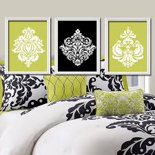 Damask Wall Decor Damask Wall Decor With Black Color Heavenly Decoration Bathroom Of