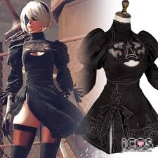 aliexpress com buy nier automata 2b cosplay costume black dress