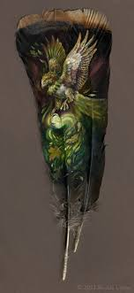 turkey feather painting painted feathers brenda lyons illustration
