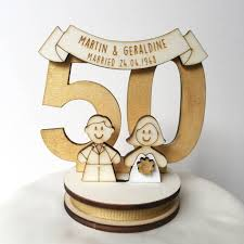 50 wedding anniversary personalised 50th wedding anniversary cake topper by just toppers