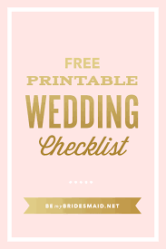 downloadable wedding planner free wedding planning printables checklists