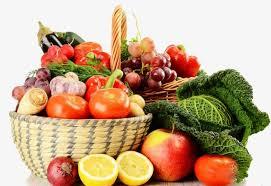 fruit and vegetable basket fruits and vegetables basket tomato basket spinach png image