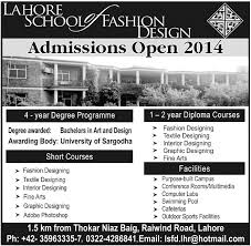 Short Courses Interior Design by Admissions Open In Lahore Of Fashion Design At Lahore