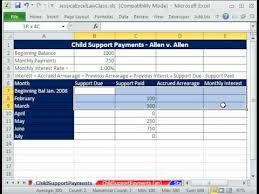 Accrual Accounting Excel Template Class Excel 2 Child Support Payments Template S