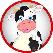 cute cow cartoon thumbs up royalty free cliparts vectors and