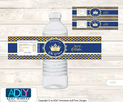 prince baby shower crown prince water bottle wrappers labels for a prince baby