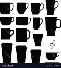 coffee cups mugs and tea royalty free vector image