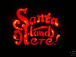 santa land here lighted sign christmas lighted santa land here yard door sign nib 32690740