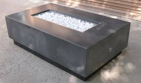 Floating Fire Pit by Concrete Pete U2013 Floating Rectangle Concrete Firepit