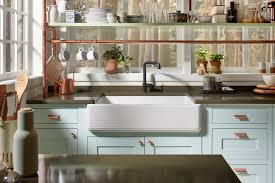 kitchen with apron sink apron front sinks an easy kitchen update kohler