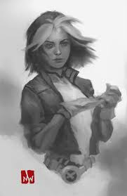 x men rogue sketch by markwinters on deviantart
