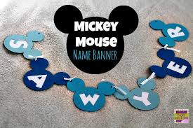 mickey mouse birthday personalized mickey mouse birthday banner cricut craft tutorial