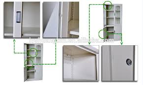 Office Wall Cabinets With Doors Knock Down Office Glass Front Locking Cabinet Glass Front Storage