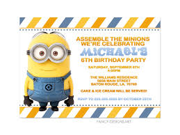 halloween birthday party invitations templates free printable minion birthday party invitations ideas template