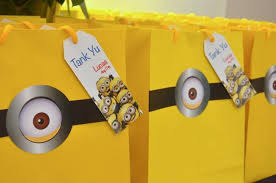 minion gift bags how to throw a despicable me party that is fit for a minnion