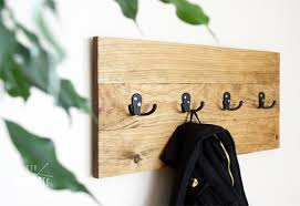 diy easy wooden coat rack diy huntress