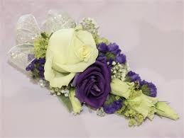 purple corsage mixed purple corsage